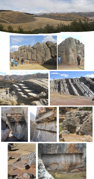 Peru                                 Cusco Sacsayhuamán, quakeproof walls,                                 throns, slides, cuts and stairs in the                                 rock etc.