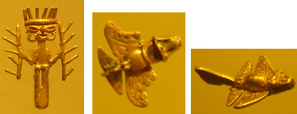 Columbia Bogota Gold Museum,                               Talima Culture medium period with                               extraterrestrial god and airplanes of the                               past