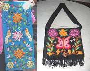 Peru handicrafts from Ayacucho with                             tapistry and weavings